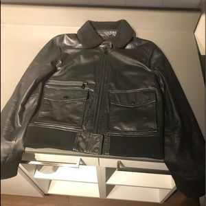 Joes Collection (joesjeans) Black leather bomber